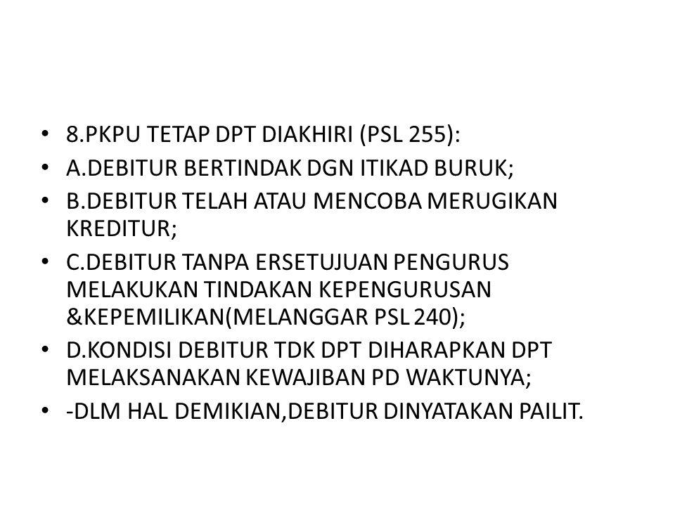 8.PKPU TETAP DPT DIAKHIRI (PSL 255):