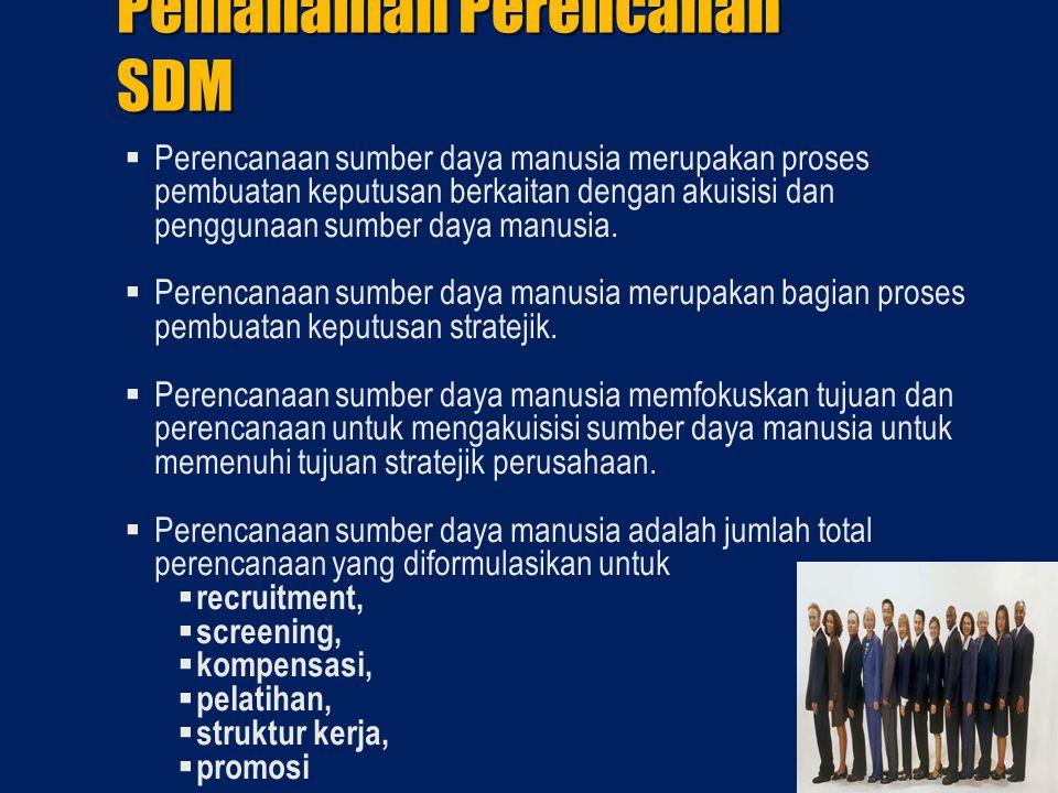 Pemahaman Perencanan SDM