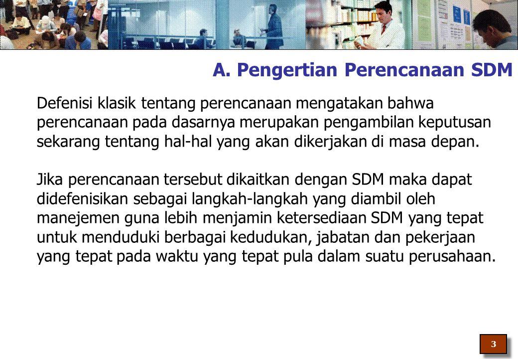 A. Pengertian Perencanaan SDM