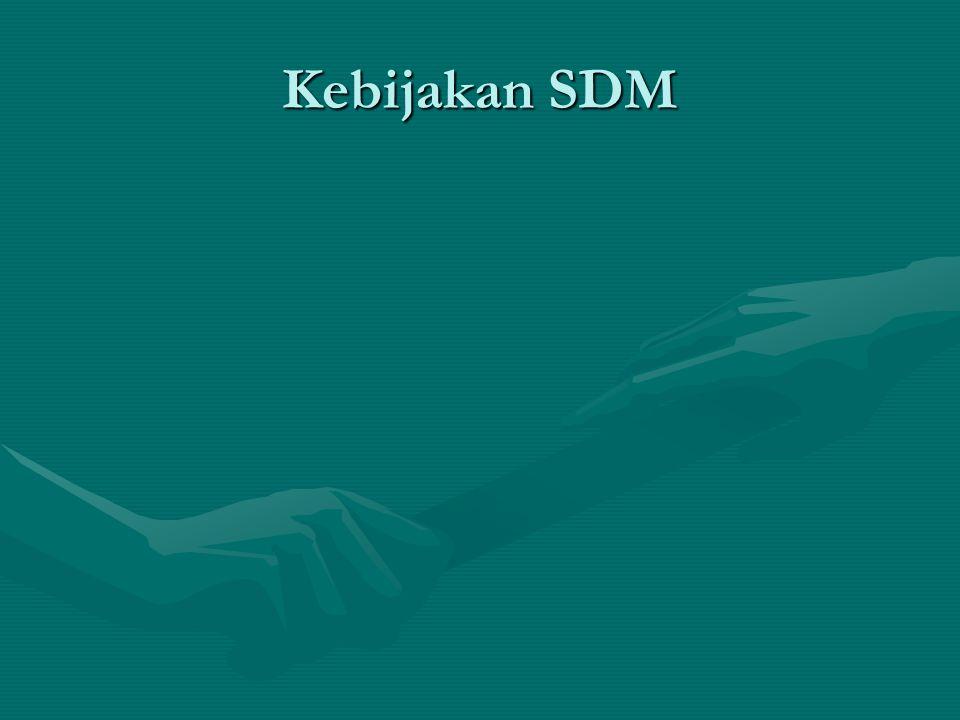 Kebijakan SDM