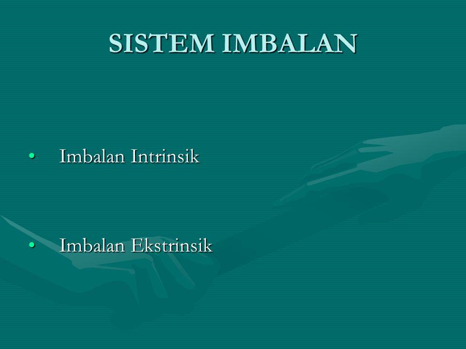 SISTEM IMBALAN Imbalan Intrinsik Imbalan Ekstrinsik