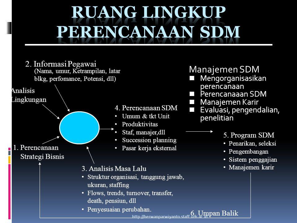 Ruang Lingkup Perencanaan SDM