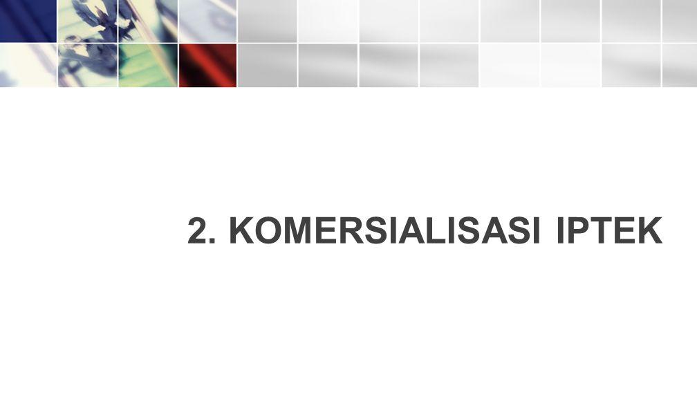 2. KOMERSIALISASI IPTEK