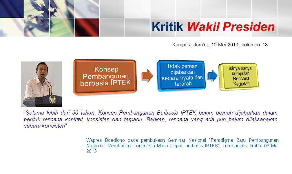 Konsep Pembangunan berbasis IPTEK