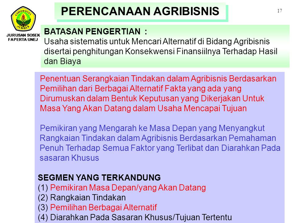 PERENCANAAN AGRIBISNIS
