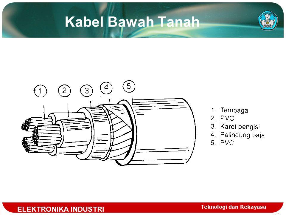Kabel Bawah Tanah ELEKTRONIKA INDUSTRI Teknologi dan Rekayasa