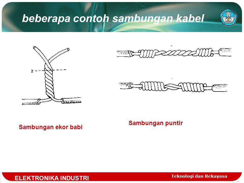 beberapa contoh sambungan kabel