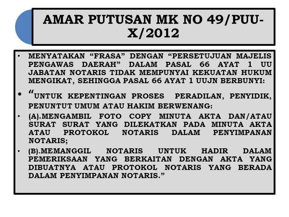 AMAR PUTUSAN MK NO 49/PUU-X/2012