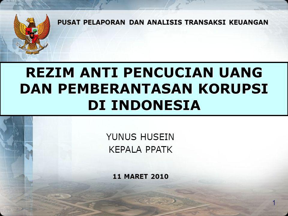 REZIM ANTI PENCUCIAN UANG DAN PEMBERANTASAN KORUPSI DI INDONESIA
