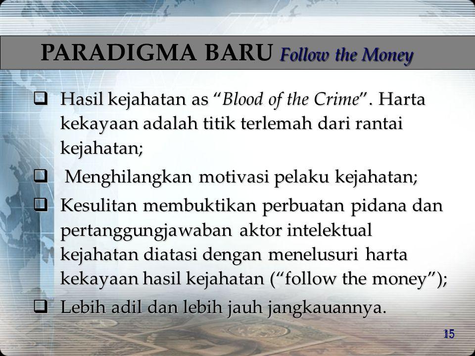 PARADIGMA BARU Follow the Money
