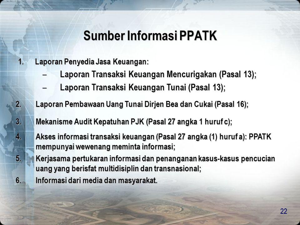 Sumber Informasi PPATK