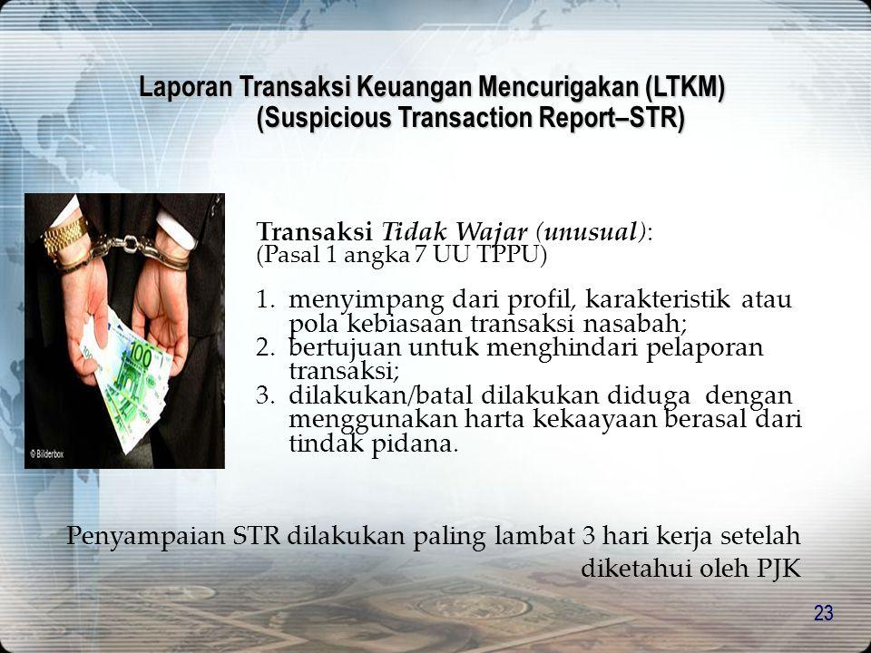 Laporan Transaksi Keuangan Mencurigakan (LTKM)