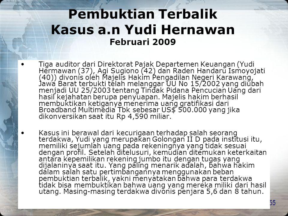 Pembuktian Terbalik Kasus a.n Yudi Hernawan Februari 2009