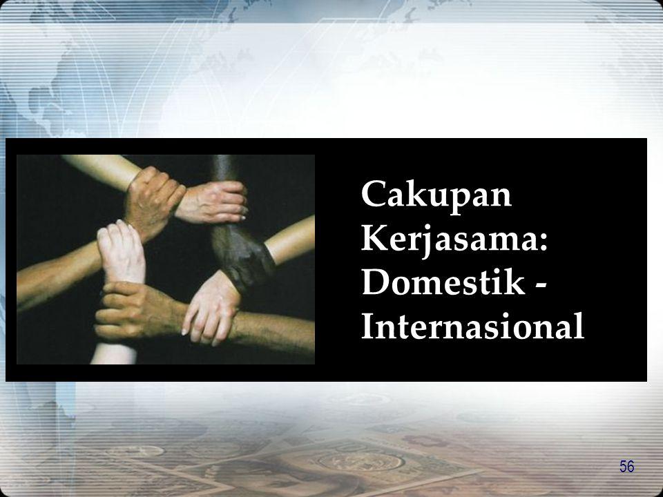 Cakupan Kerjasama: Domestik -Internasional