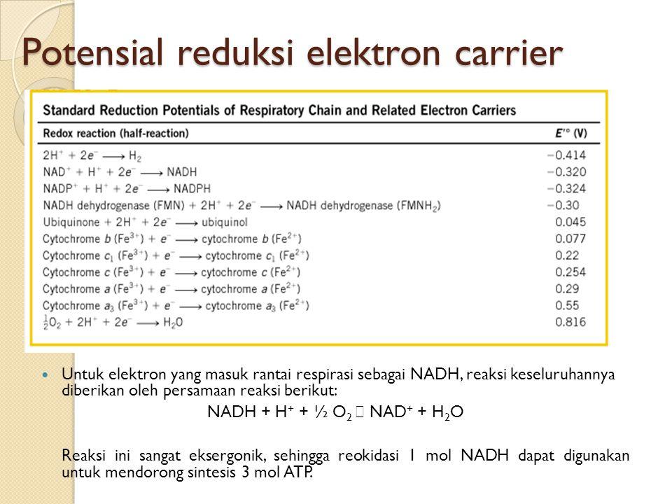 Potensial reduksi elektron carrier