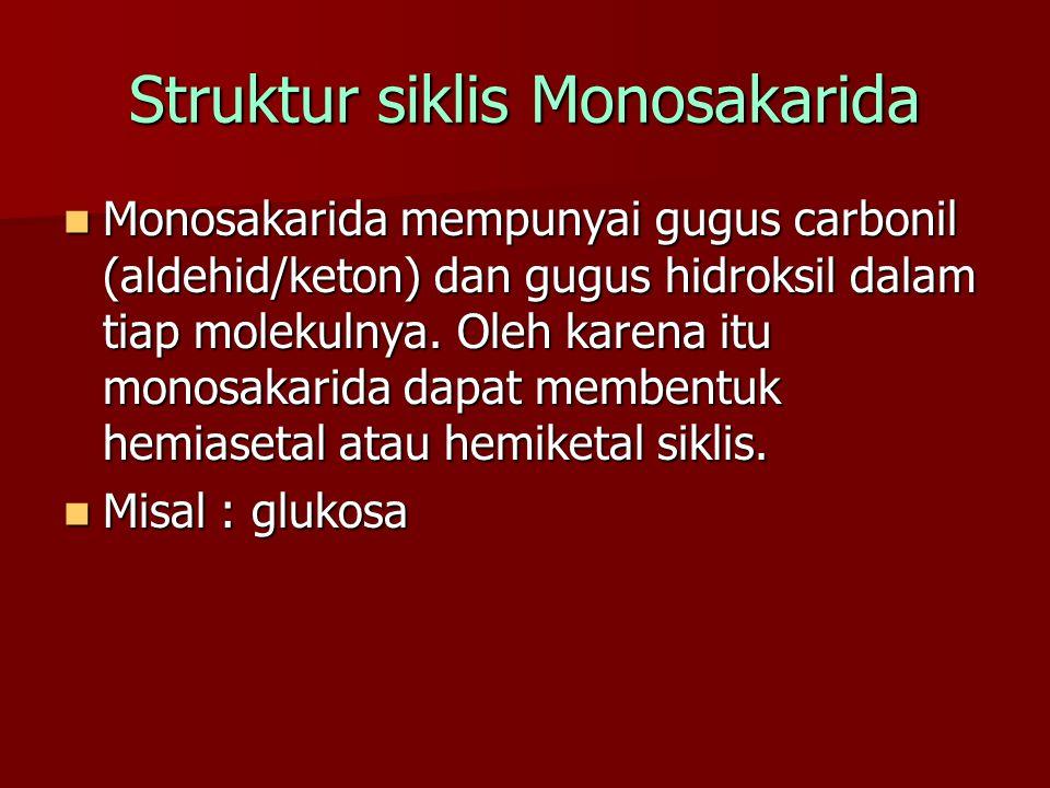 Struktur siklis Monosakarida