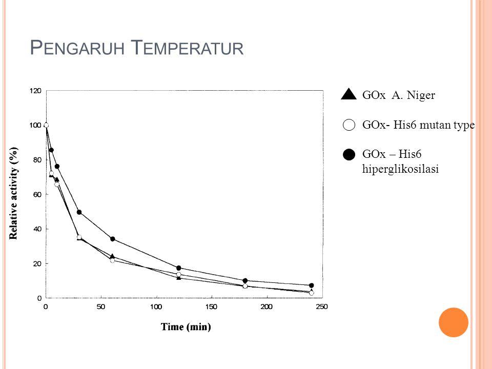 Pengaruh Temperatur GOx A. Niger GOx- His6 mutan type