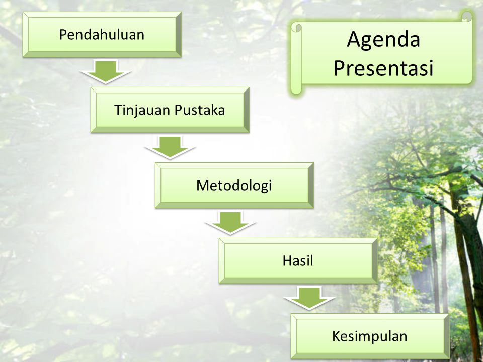 Agenda Presentasi Pendahuluan Tinjauan Pustaka Metodologi Hasil