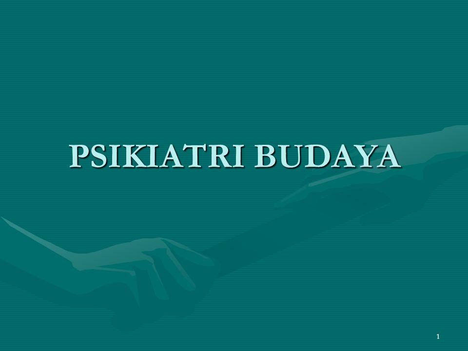 PSIKIATRI BUDAYA