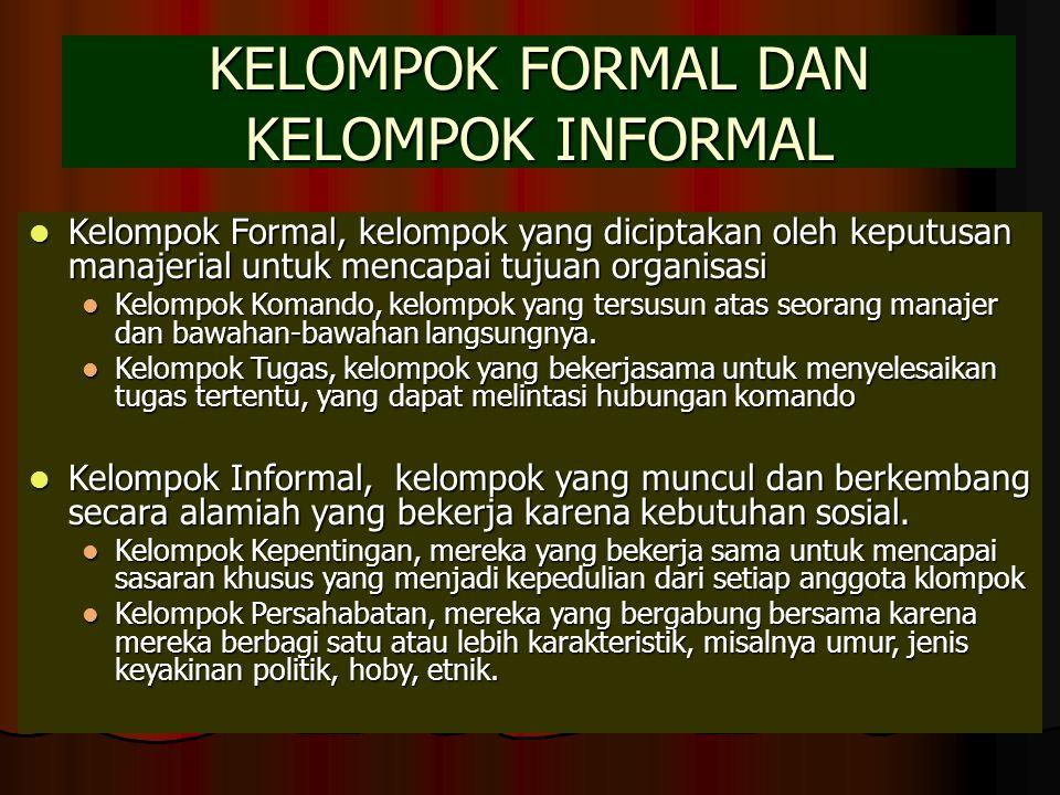 KELOMPOK FORMAL DAN KELOMPOK INFORMAL