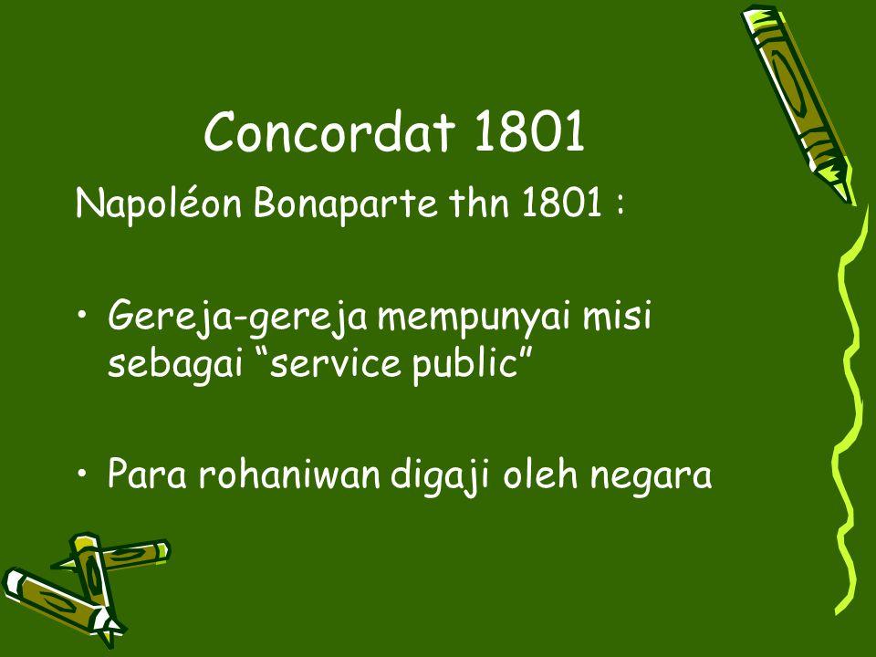 Concordat 1801 Napoléon Bonaparte thn 1801 :