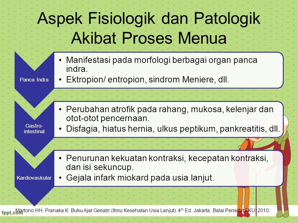 Aspek Fisiologik dan Patologik Akibat Proses Menua