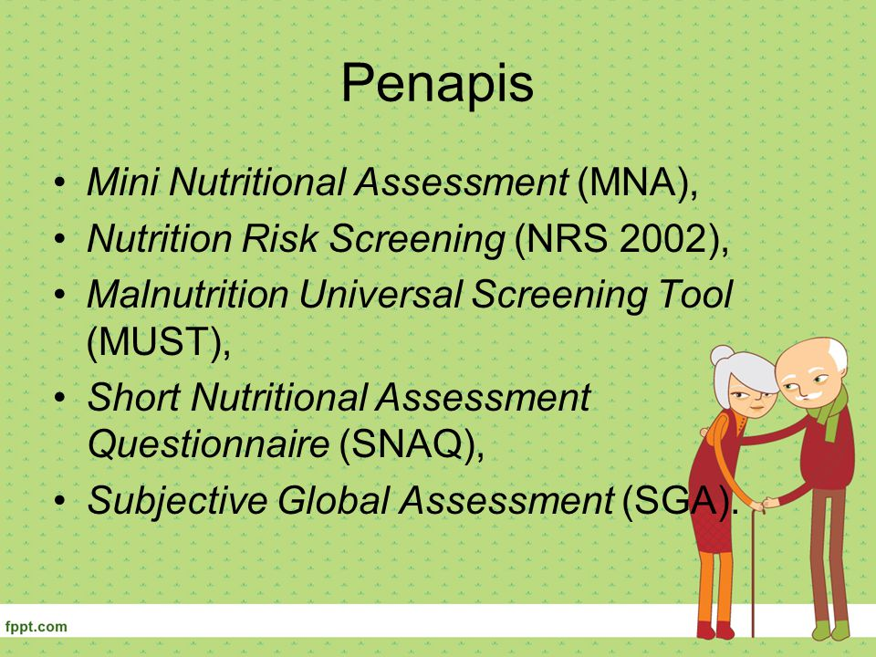 Penapis Mini Nutritional Assessment (MNA),