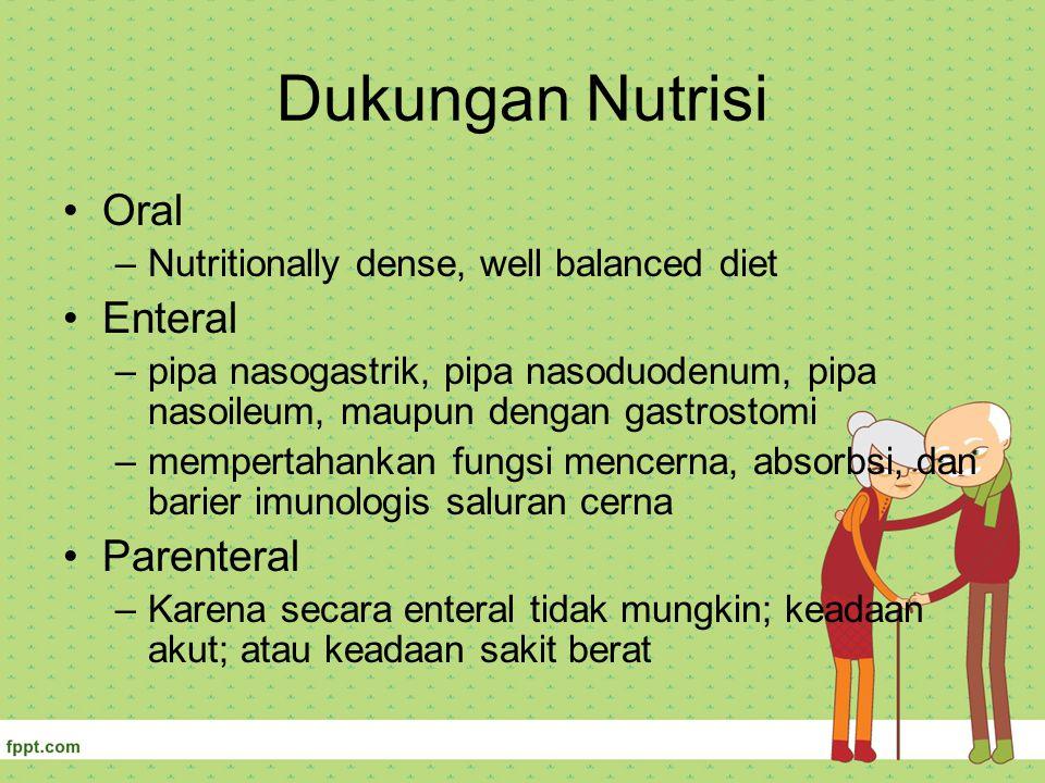 Dukungan Nutrisi Oral Enteral Parenteral