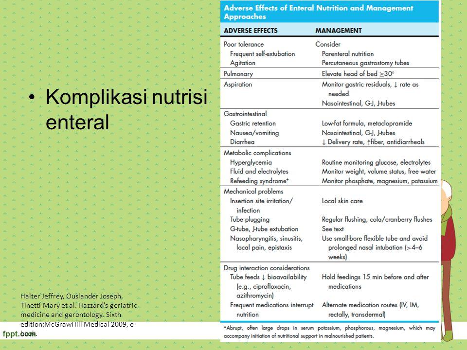 Komplikasi nutrisi enteral