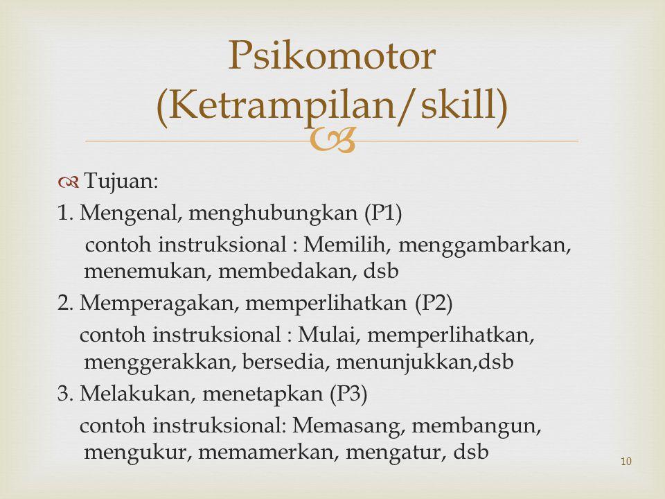 Psikomotor (Ketrampilan/skill)