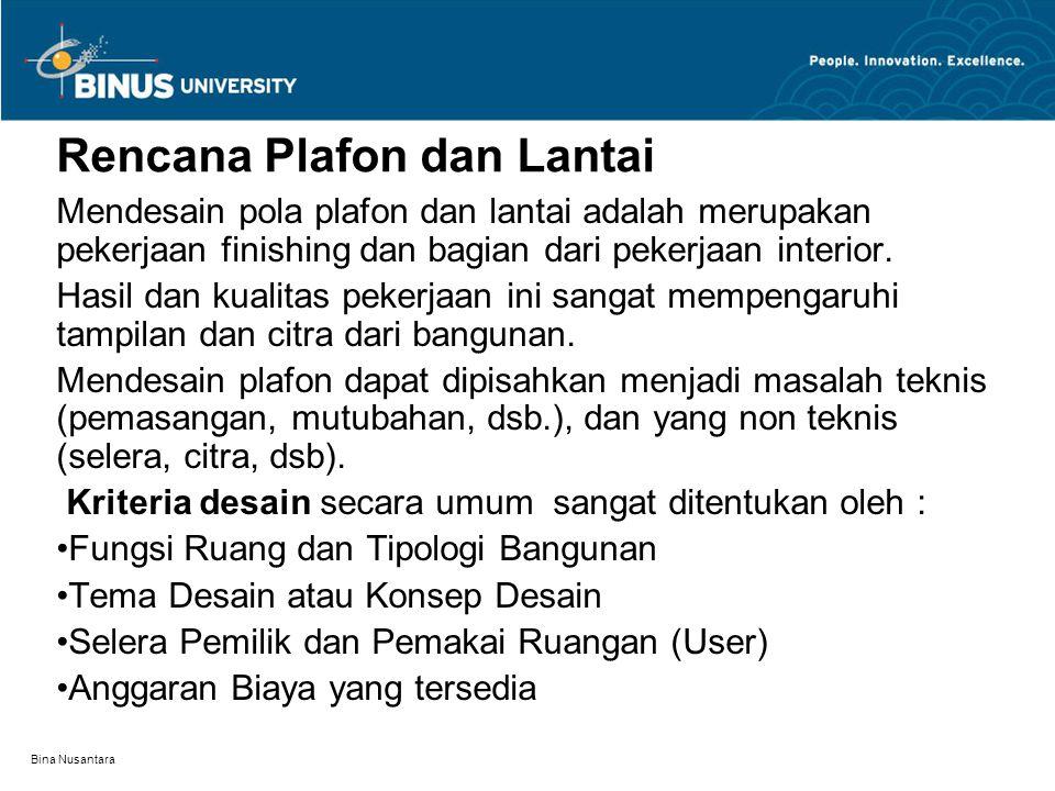 Rencana Plafon dan Lantai