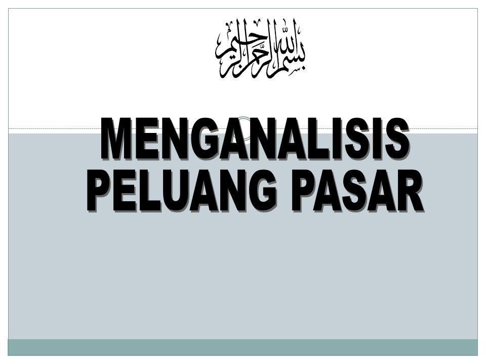 MENGANALISIS PELUANG PASAR