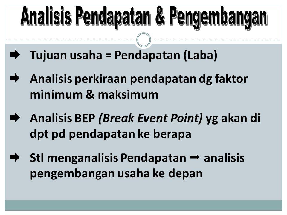 Analisis Pendapatan & Pengembangan