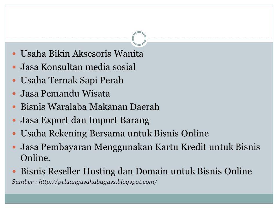 Usaha Bikin Aksesoris Wanita Jasa Konsultan media sosial