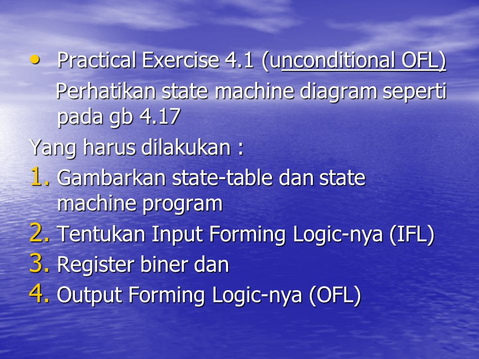 Practical Exercise 4.1 (unconditional OFL)