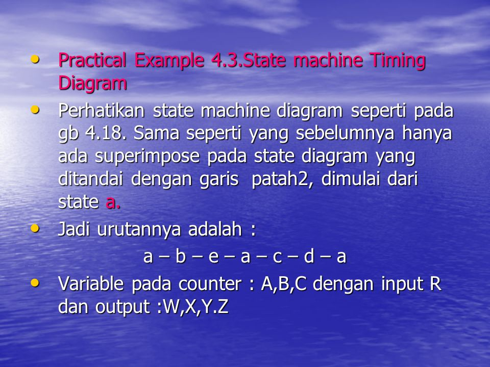 Practical Example 4.3.State machine Timing Diagram