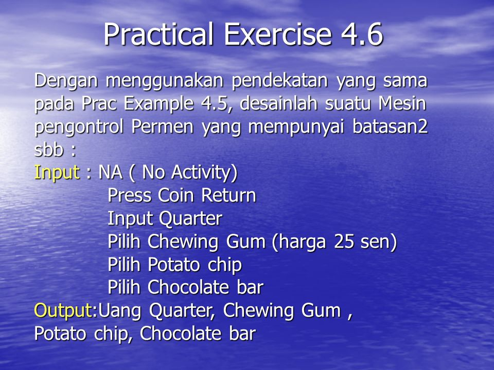 Practical Exercise 4.6