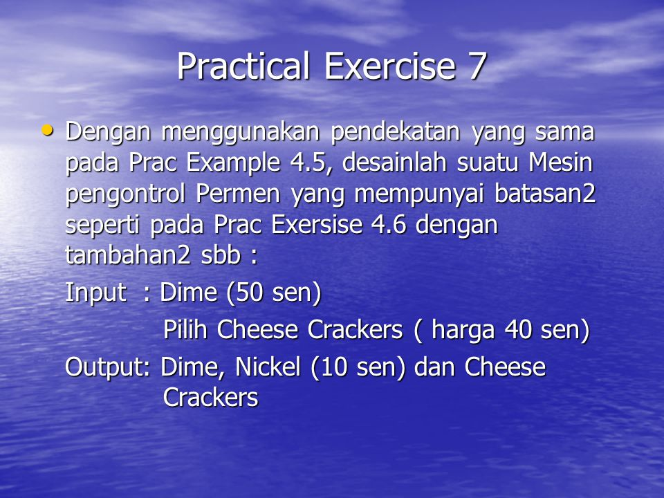 Practical Exercise 7