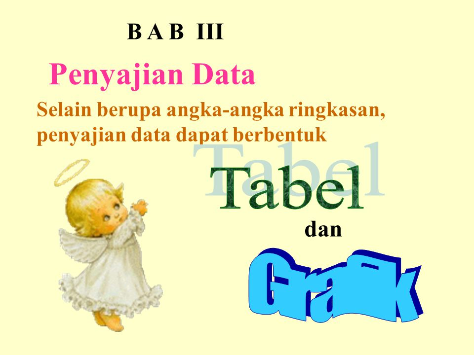 Penyajian Data B A B III Tabel dan Grafik
