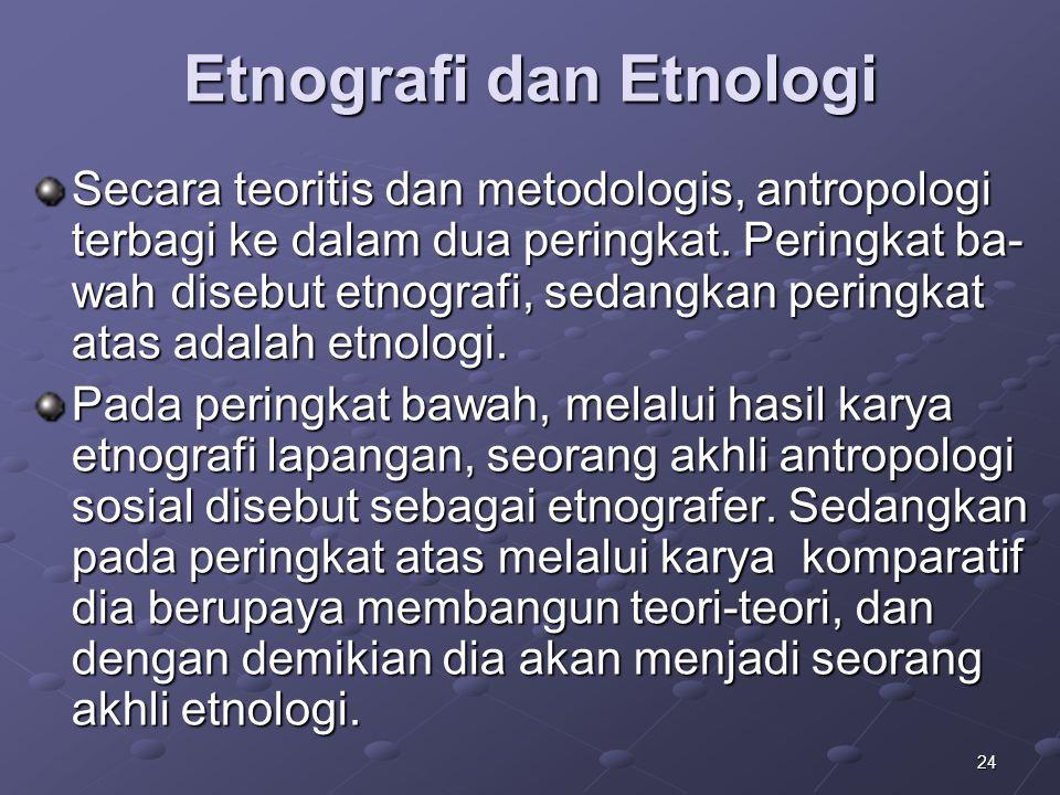 Etnografi dan Etnologi