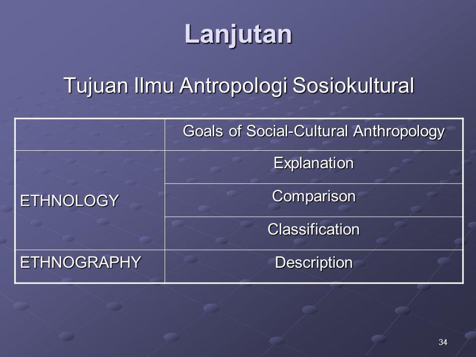 Tujuan Ilmu Antropologi Sosiokultural