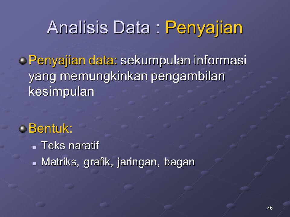 Analisis Data : Penyajian