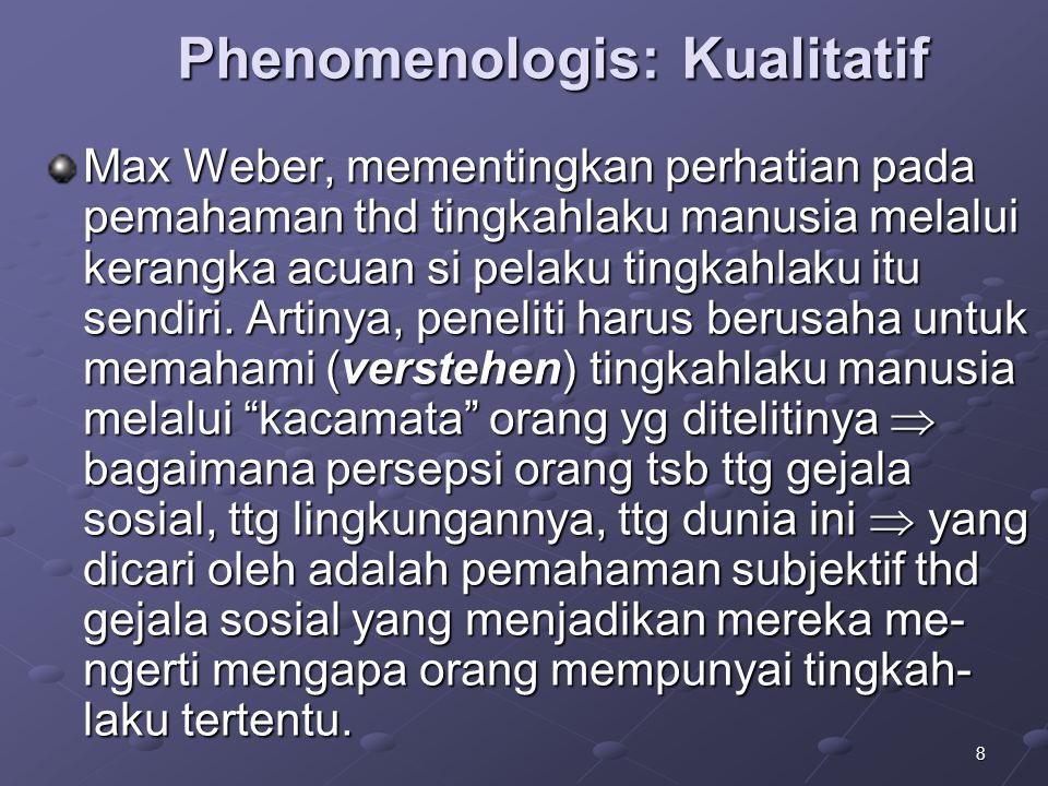 Phenomenologis: Kualitatif