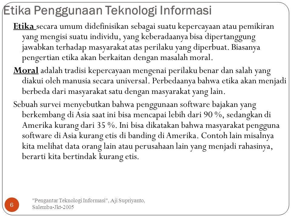 Etika Penggunaan Teknologi Informasi