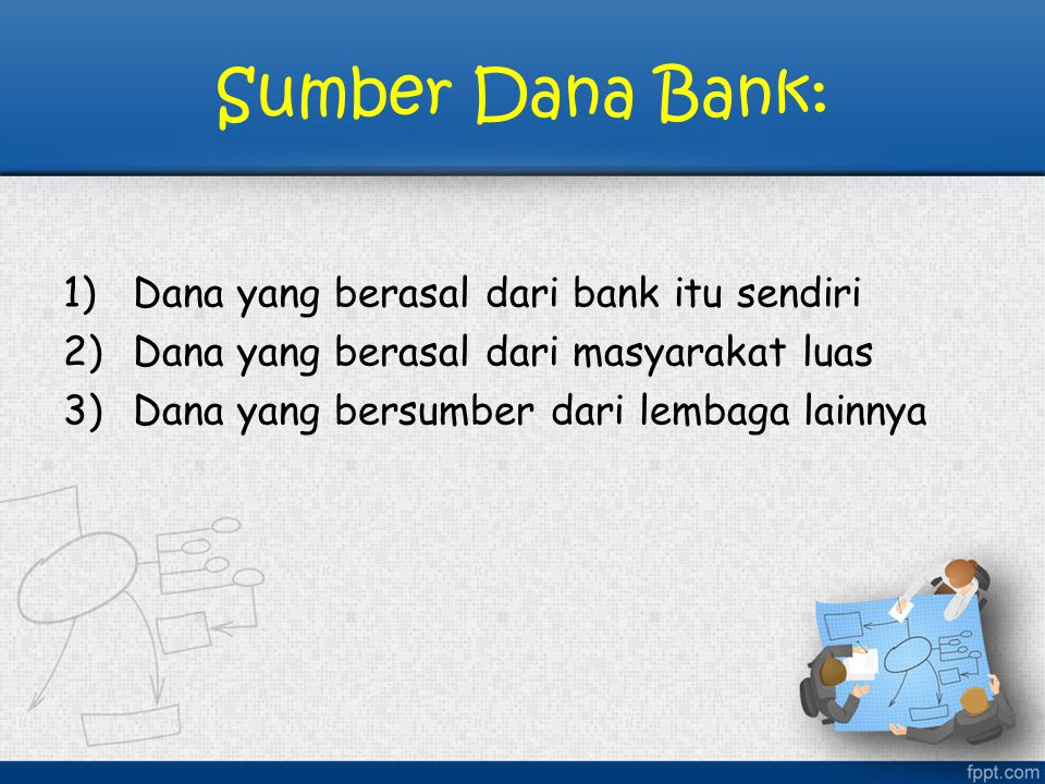 Sumber Dana Bank: Dana yang berasal dari bank itu sendiri
