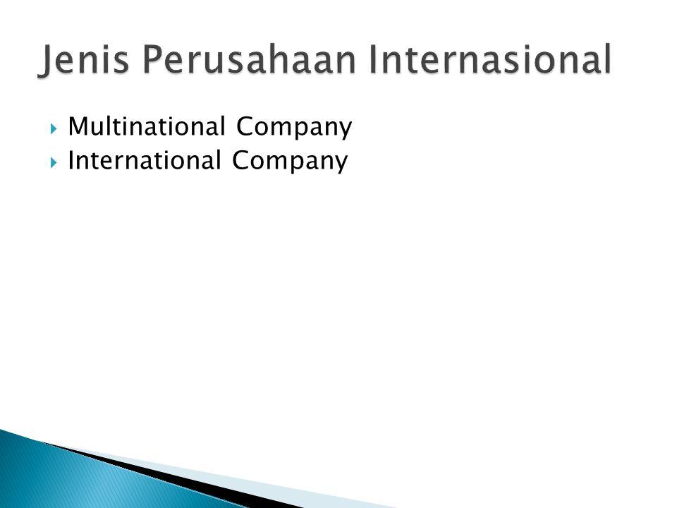 Jenis Perusahaan Internasional