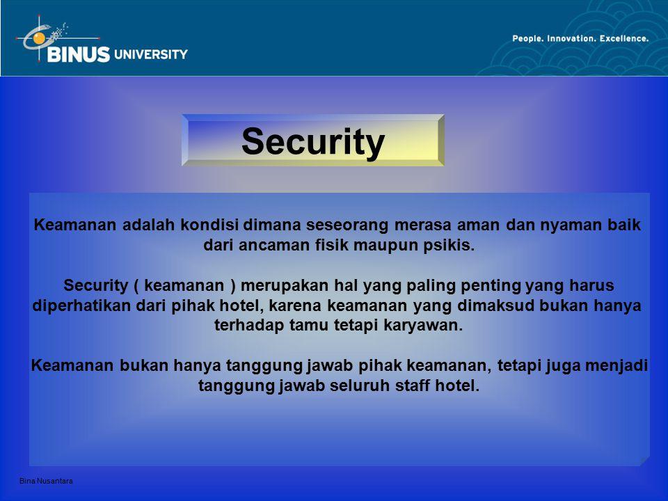 Security Keamanan adalah kondisi dimana seseorang merasa aman dan nyaman baik. dari ancaman fisik maupun psikis.