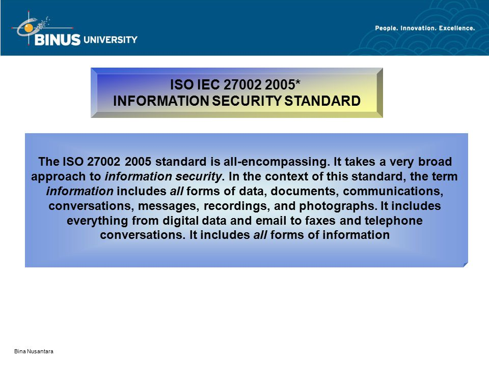 INFORMATION SECURITY STANDARD