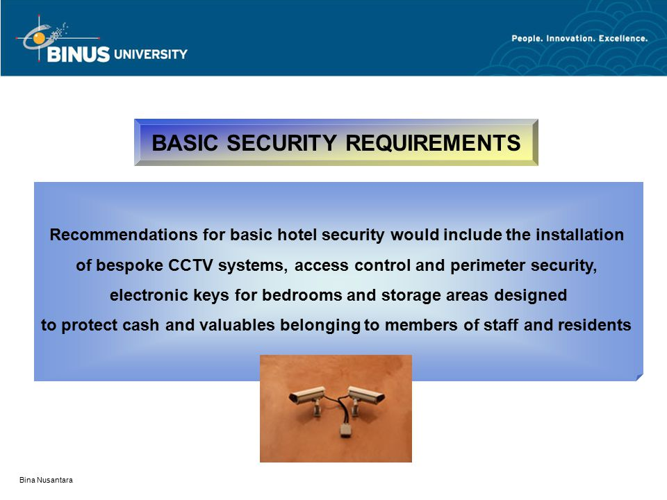 BASIC SECURITY REQUIREMENTS