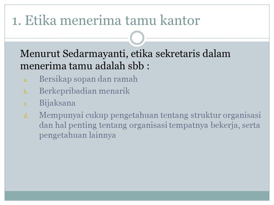 1. Etika menerima tamu kantor